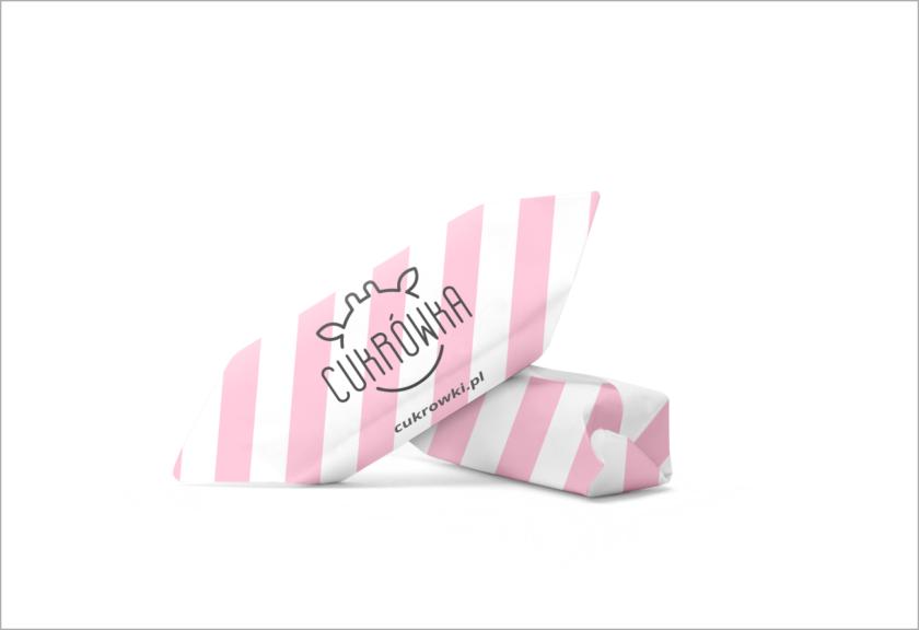 Cukrówka- różowa w paski