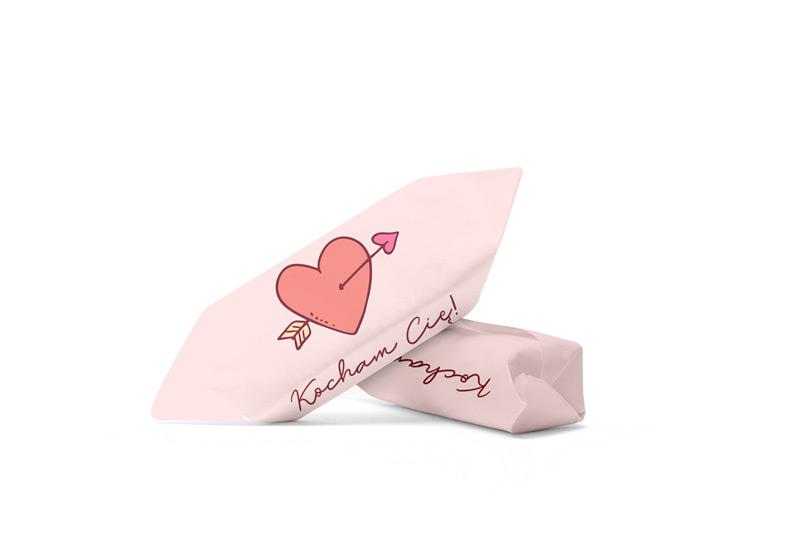 Prezent na Walentynki - krówki z nadrukiem