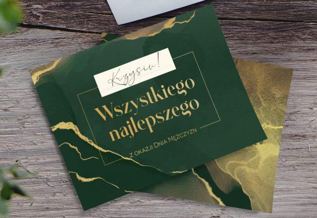 Kartka na Dzień Mężczyzn do własnej personalizacji
