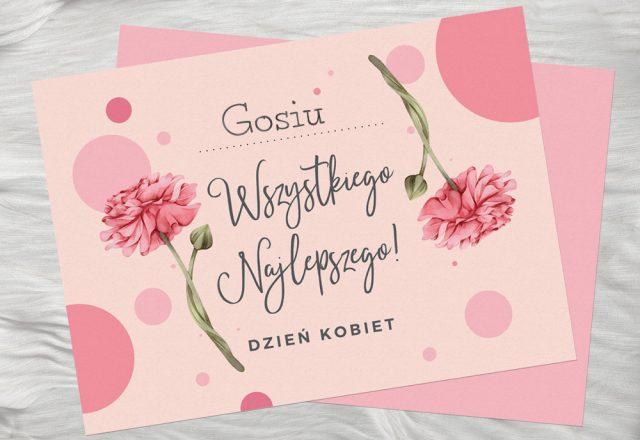 Kartka na Dzień Kobiet do własnej personalizacji