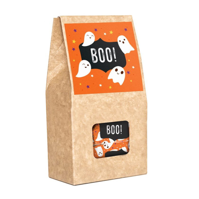 Pudełko z krówkami na Halloween