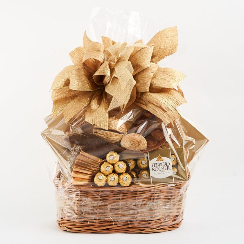 Kosz prezentowy Lindt Lindor i Ferrero Rocher