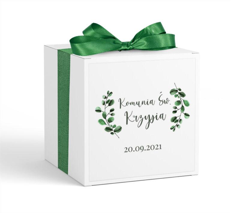 Pudełko z krówkami Pierwsza Komunia Święta