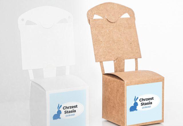 Pudełko krzesełkowe z krówkami Chrzest Święty