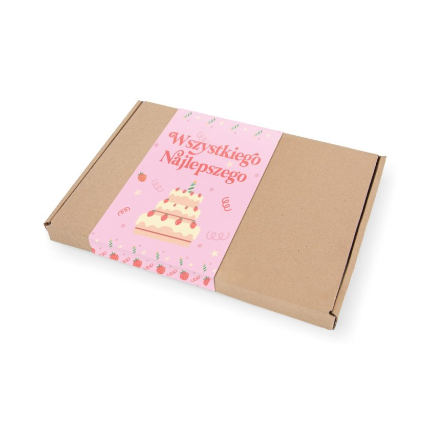 Pudełko urodzinowe z krówkami