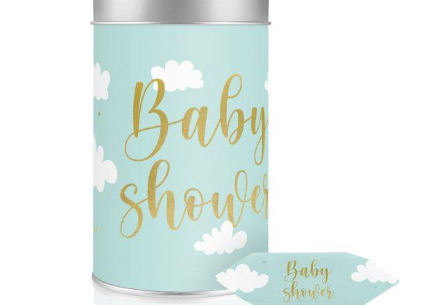 Puszka z krówkami Baby shower