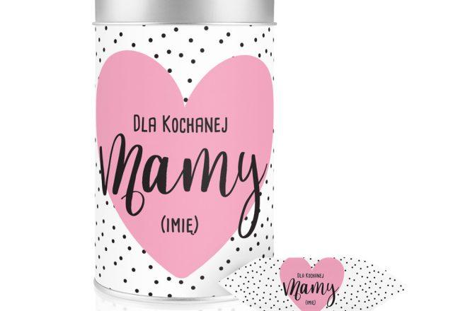 Puszka z personalizacją na Dzień Matki