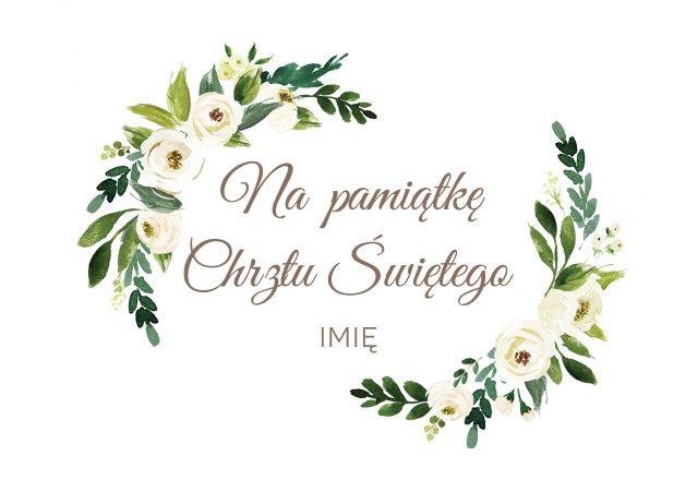 Kartka z personalizacją na Chrzest Święty